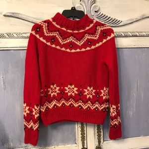 J. crew handknit wool and cashmere sweater Sz M